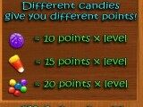 A breakdown of the points on offer for each type of candy.