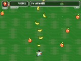 How many games have you played where Elvis fires bananas at flying oranges that turn into strawberries?