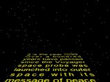 The plot is explained in Star Wars-style scrolling text!