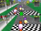 Two player racing in the traditional split-screen mode.