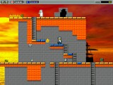 Brickman consists of platforms and ladders. And bugs, ghosts, fire, pidgeons...