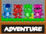 Choose your character from one of the 4 adorable kitty-cats.